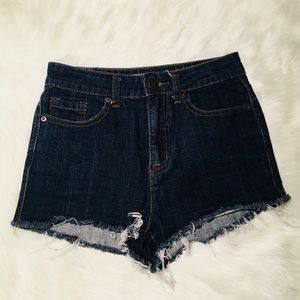 BDG Dark Wash High Rise Jean Shorts